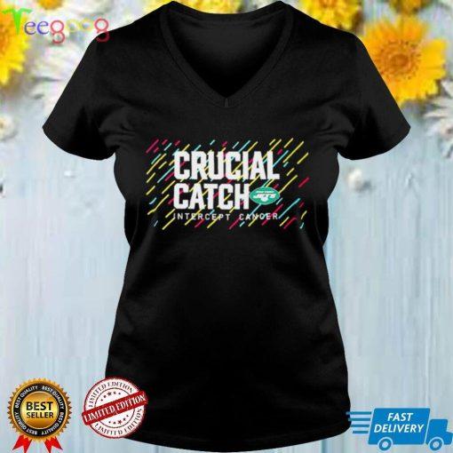 New York Jets 2021 Crucial Catch Intercept Cancer T Shirt