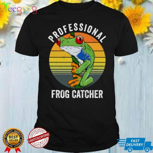 Professional Frog Catcher Funny Frog Science Sweatshirt
