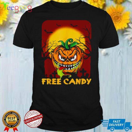 Pumpkin Monster Free Candy Halloween Shirt