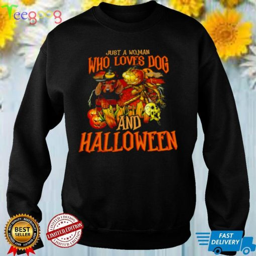 Skull Just A Woman Who Loves Dog And Halloween T shirt