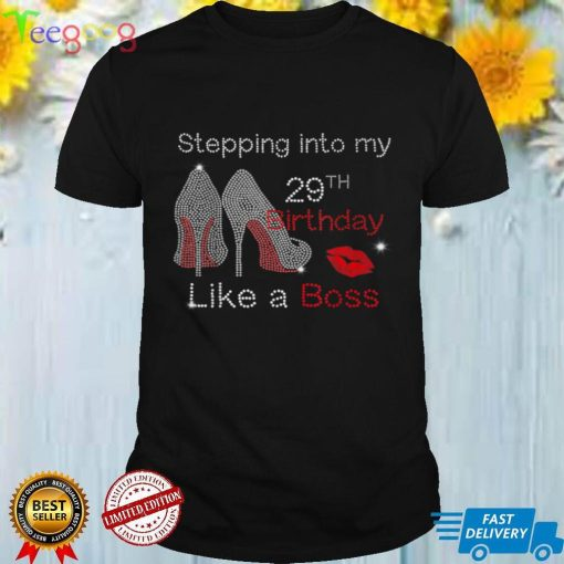 Stepping Into My 29th Birthday Like A Boss Bday Gift Women T Shirt