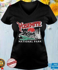 Yosemite National Park Retro 80s Mountains Distressed Shirt