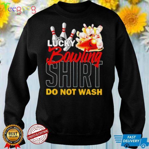 lucky bowling bowling shirt do not wash shirt