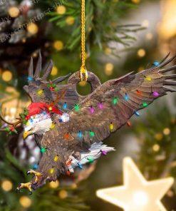 Eagle Christmas Light Shape Ornament