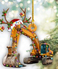 Excavator Christmas Light Shape Ornaments