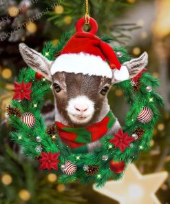 Goat Wreath Shape Ornament