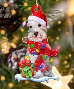 Schnauzer Christmas Light Shape Ornament