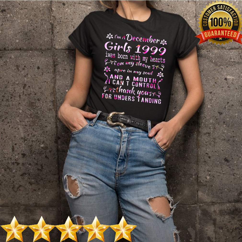 Womens I'm A December Girls 1999 21st Birthday Gifts 21 Years Old T-Shirt 10